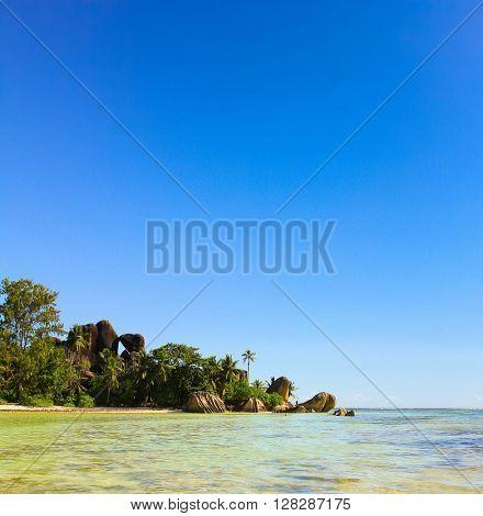 Anse Source d'Argent Sunlit Scene