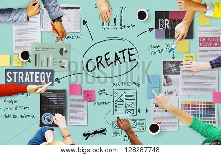 Create Design Strategy Vision Concept