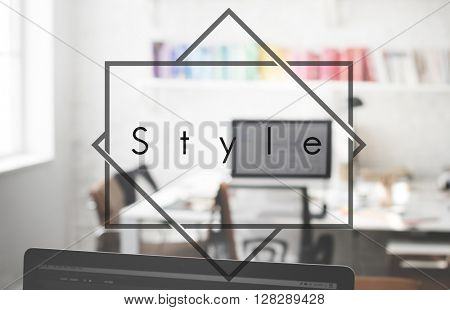 Style Character Design Elegant Interior Decorating Concept