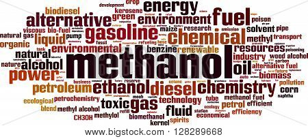 Methanol word cloud concept. Vector illustration on white