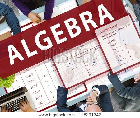 Algebra Mathematics Calculation Chart Concept