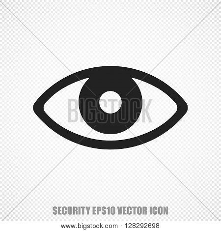 The universal vector icon on the safety theme: Black Eye. Modern flat design. For mobile and web design. EPS 10.