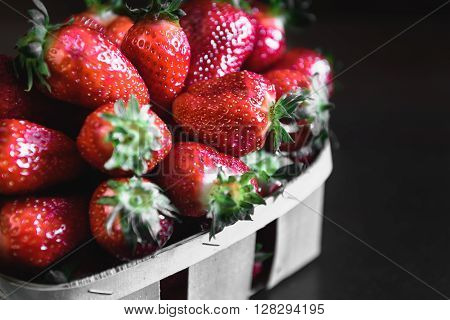 Strawberries On A Wooden Table