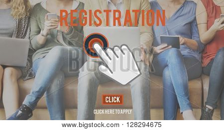 Register Now Application Apply Concept