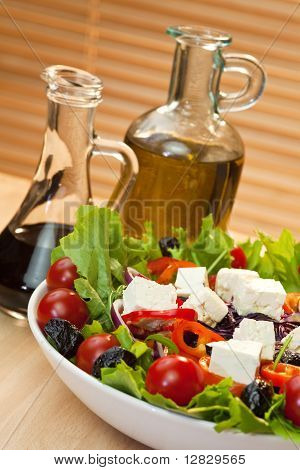 Tomato Pepper Olive Red Onion And Feta Salad