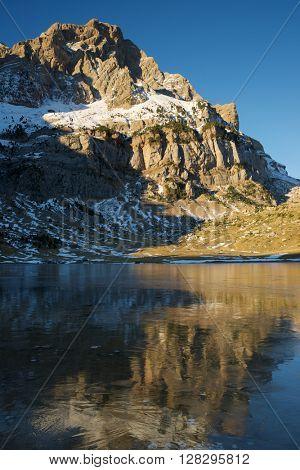Telera Peak, Partacua Mountains, in Tena Valley, Aragon, Huesca, Spain.