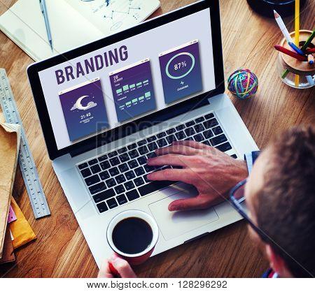 Branding Advertisement Copyright Value Profile Concept