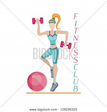 Sportswoman. Vector element for sport motivation posters. Dont stop inscription. Run motivation. Good for sport editions, fitness club, magazines and websites. Isolated objects on white background