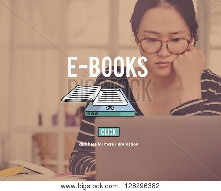 E-books Education Electronic Information Reading Concept