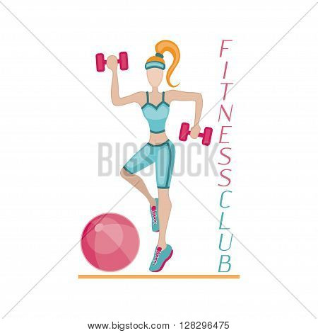 Sportswoman. element for sport motivation posters. Dont stop inscription. Run motivation. Good for sport editions, fitness club, magazines and websites. Isolated objects on white background