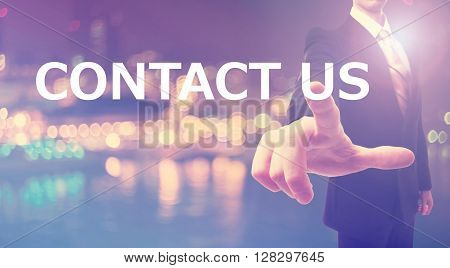 Contact Us Concept With Businessman