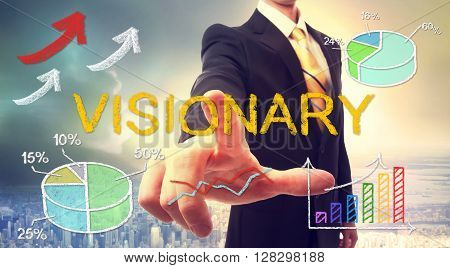 Visionary Concept With Businessman