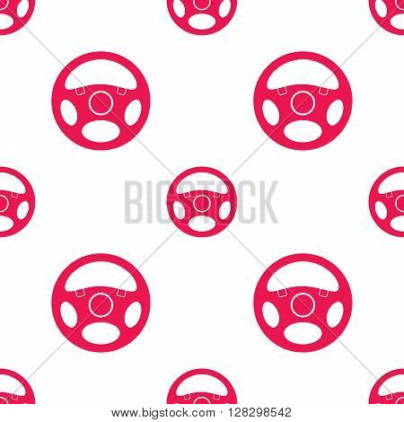 Seamless pattern with vehicle steering wheels. Car steering wheels on white background. EPS8 vector illustration includes Pattern Swatch.