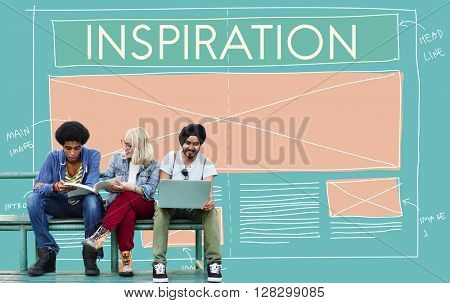 Inspiration Aspiration Creative Imagination Dream Concept