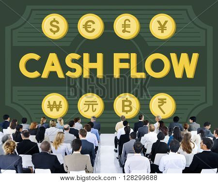 Cash Flow Money Value Earnings Concept
