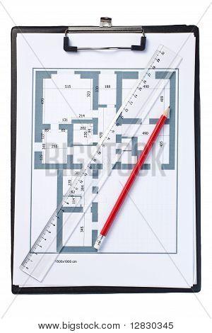 Zeichnung des Grundrisses
