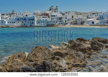 Amazing Seascape of town of Naoussa, Paros island, Cyclades, Greece