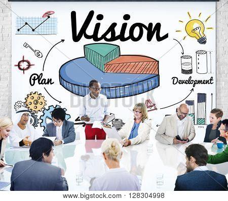 Vision Development Pie Graph Concept