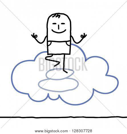 cartoon character and yoga