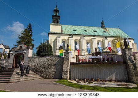 Sanctuary Mother of God in Lesniow Poland Silesia.