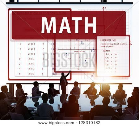 Math Mathematics Calculation Chart Concept