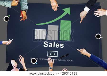 Sales Commerce Costs Income Profit Retail Concept