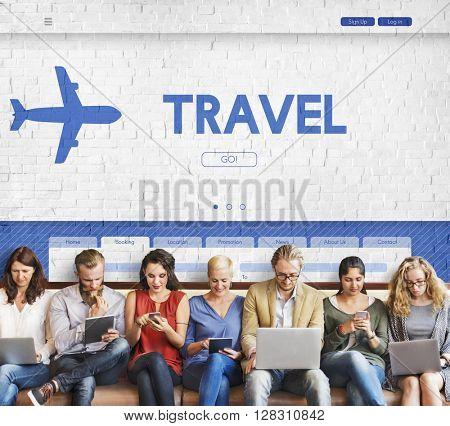 Travel Tour Vacation Holidays Transportation Concept