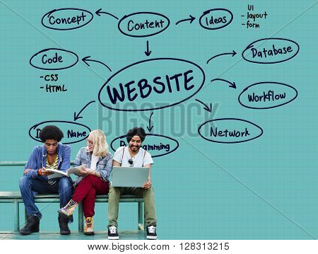 Website Connection Internet Networking Data Concept