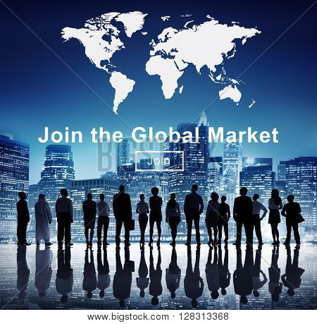 Global Market Commerce Commercial Consumer Concept