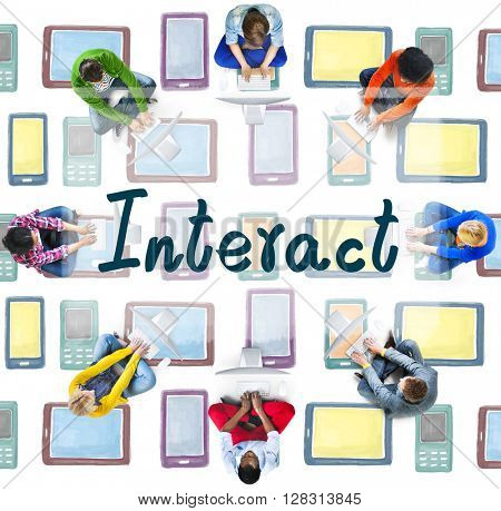 Interact Socialize Communication Connection Togetherness Concept