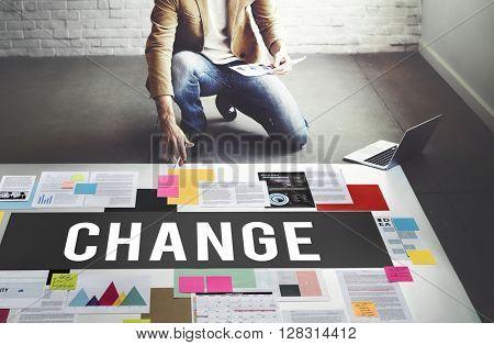 Change Choice Development Ideas Improvement Concept