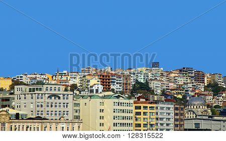 View of the Istanbul, Turkey. Day. Blue Sky.
