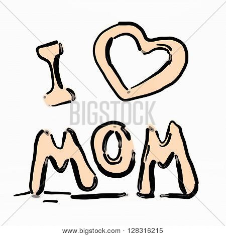 Happy mother's day flying letters. 3D illustration