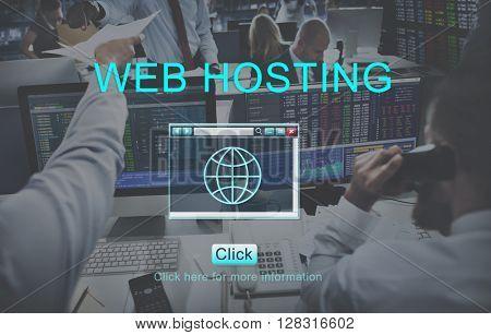 Web Hosting Browsing Digital Internet Concept