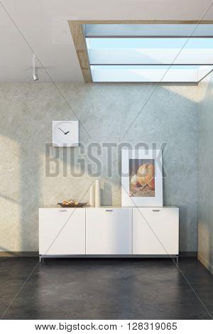 modern design of lounge room, 3d rendering