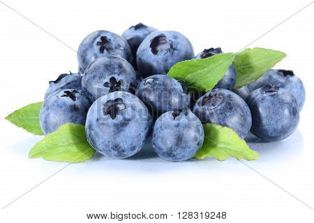 Blueberry Blueberries Fresh Berry Berries Fruit Isolated On White