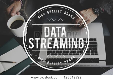 Data Streaming Media Connection Concept