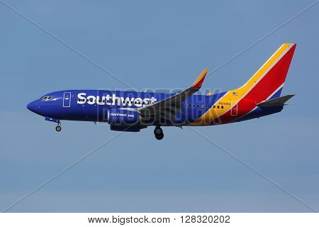Southwest Airlines Boeing 737-700 Airplane Los Angeles International Airport