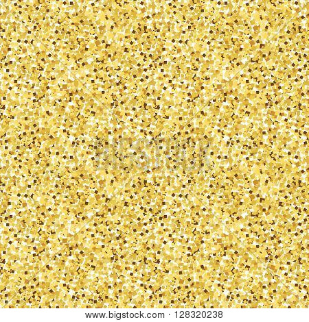 Seamless pattern of gold glitter texture to simulate shine.