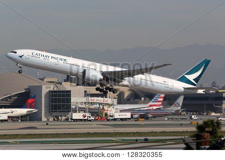 Cathay Pacific Boeing 777-300 Airplane