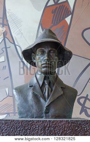 Rio De Janeiro, Brazil - Circa Jan 2016: Statu Of Santos Dumont At Airport In Rio De Janeiro, Brazil