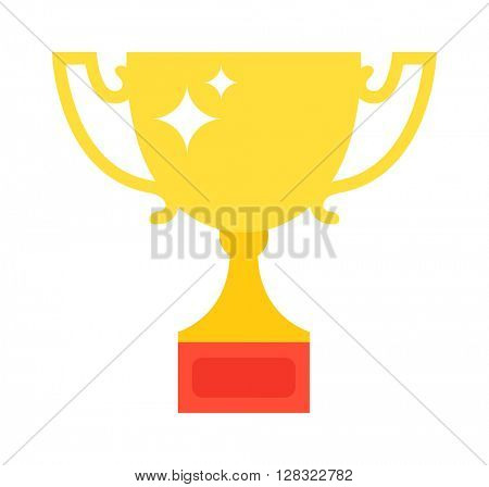 Award cup vector illustration.