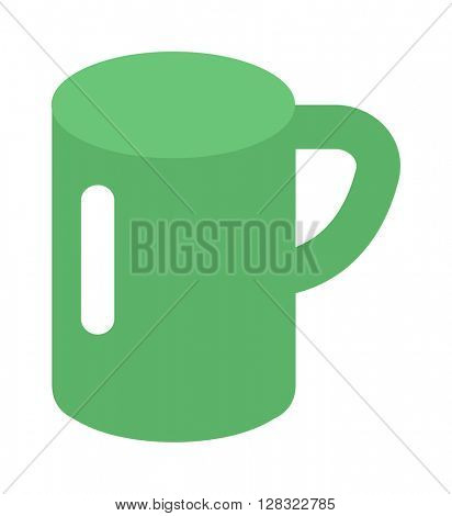 Green cup vector illustration.