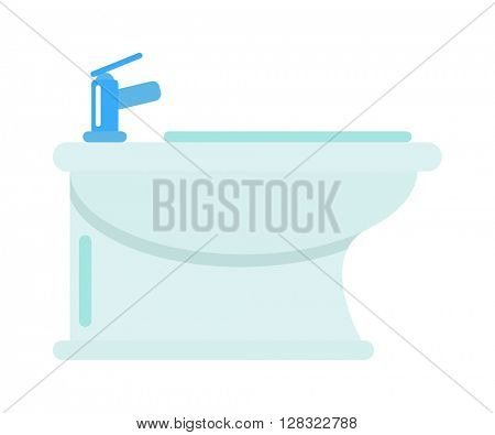 Bidet vector illustration.