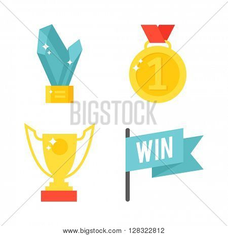 Awards isolated vector illustration.