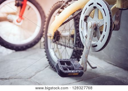 parts bicycle wheel, chain, cycling road bike frame.