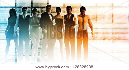 Business Team of Executives as a Success Concept 3D Illustration Render