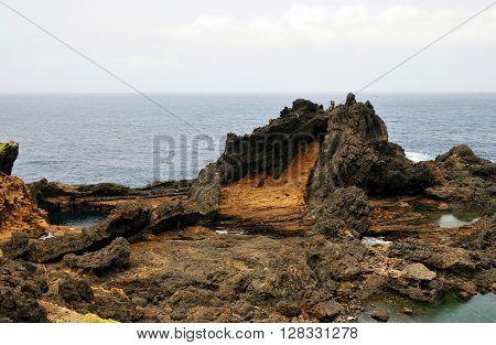 Water Between Volcanic Rocks