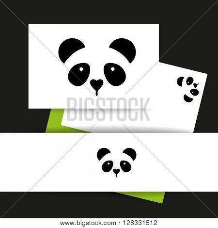 Panda logo. Panda design identity presentation template. Asian bear idea for logo, emblem, symbol, icon. Vector illustration.
