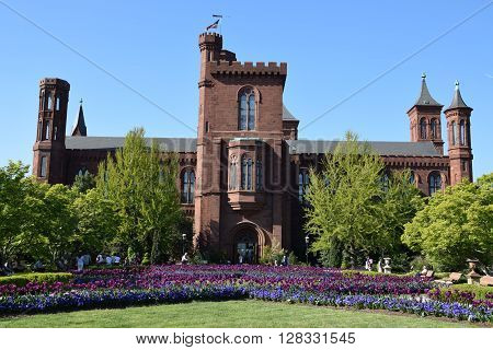 The Smithsonian Institution Building (Castle) in Washington, DC